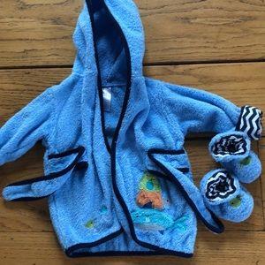 Baby boy bath robe
